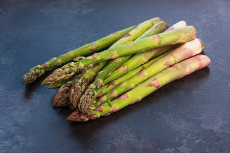 fresh and green asparagus on the table closeup vegetables healthy food fresh
