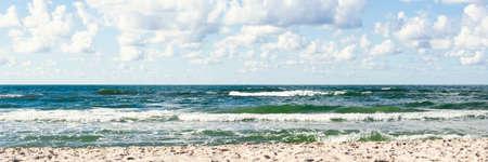 horizontal line of the sea by the beach horizontal, panorama, panoramic