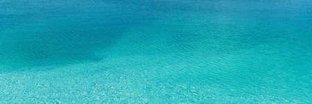 beautiful clean blue water blue lagoon horizontal, panorama, panoramic