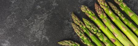 asparagus on the table horizontal, panorama