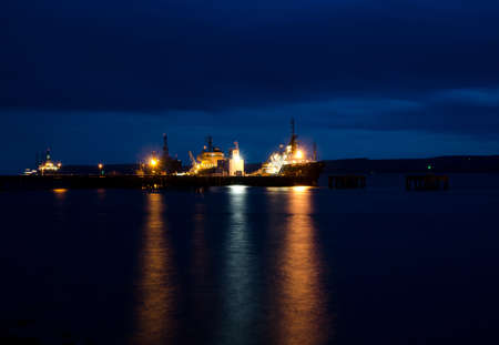 beh�rde: Oil Rigs am Port Authority N�he Cromarty Firth Invergordon Editorial