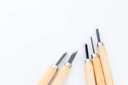 carving tool: carving tool on white  Stock Photo