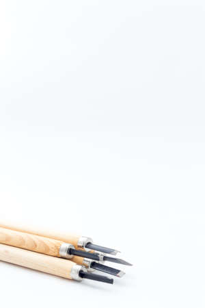 carving tool: carving tool on white background Stock Photo