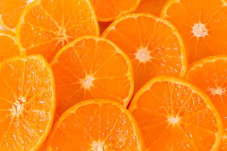 owocowy: Kromka pomarańczowym tle
