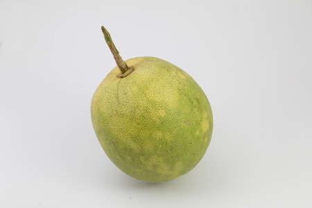 pummelo: Pomelo (Citrus maxima or Citrus grandis) on white background