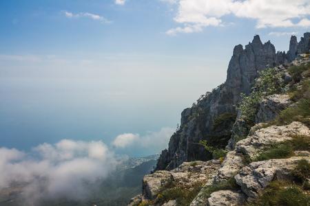 View from Mount Ai-Petri, Crimea. Beautiful nature of Crimea