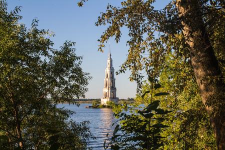 Tver Region, Russia. Kalyazinskaya bell tower: the church in Kalyazian
