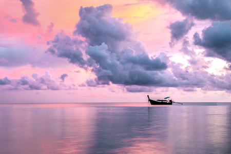 Beautiful sunset on Phi Phi Island, Thailand. Stock Photo