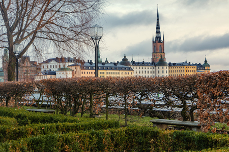 Stockholm, Sweden - January 6, 2019: View of Stockholm from the river