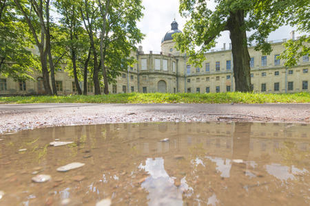 Russia, St. Petersburg, 13, July, 2017: Gatchina Palace and the park Редакционное