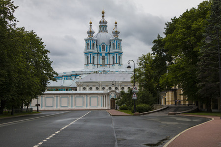 St. Petersburg, Russia, July 14, 2017: Smolny Cathedral