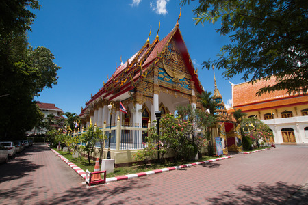 Buddhist temple in Phuket Town Wat Puta Mongkon 版權商用圖片