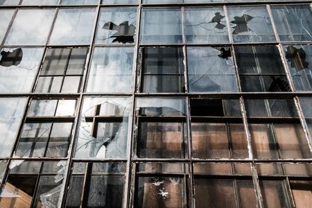 glass broken window Editorial