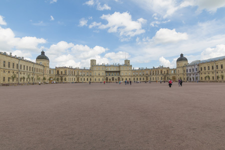 Russia, St. Petersburg, 13, July, 2017: Gatchina Palace and the park Editorial