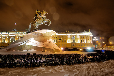 Saint- Petersburg, Russia, December 23, 2017: Monument to Peter the Great Editorial