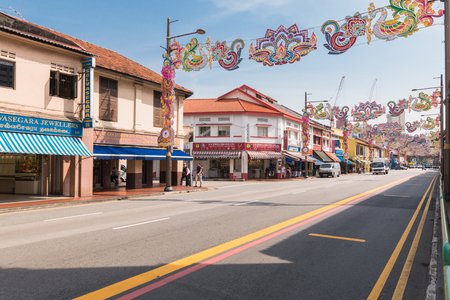 Singapore, 29, September, 2018 - Indian Quarter in Singapore. Little india