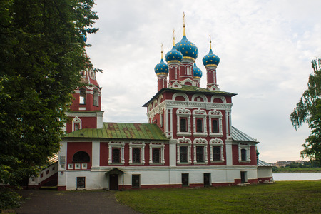 Russia, Uglich, June 27, 2015: Church of Dmitry on Blood in Uglich. gold ring of Russia