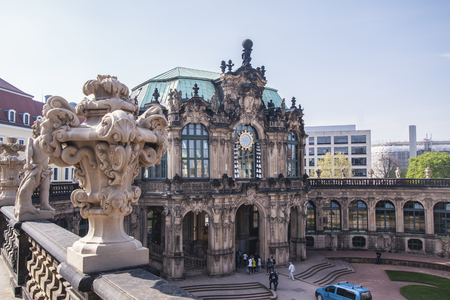 Dresden, Germany, April 24, 2019 - View of the Zwinger