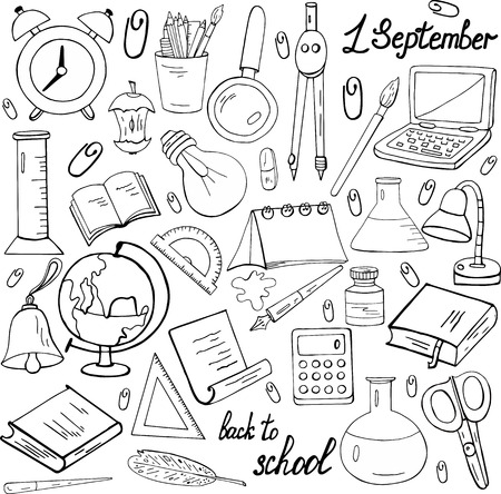 Day of Knowledge. A set of black and white stationery.