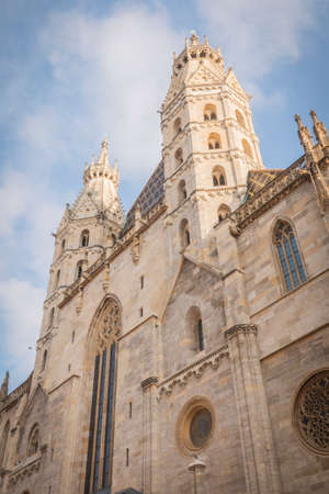 Austria, Vienna: 24, nowember, 2019 - Stefanplatz Square, St. Stephen's Cathedral. Catholic Cathedral, the national symbol of Austria and the symbol of the city
