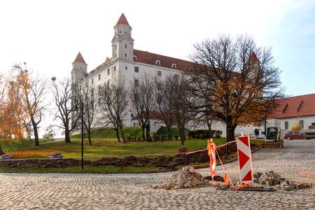 Bratislava, Slovakia: 25, nowember, 2019 - central castle  in Bratislava. National Cultural Monument of the Slovak Republic Editorial