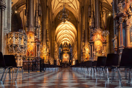 Austria, Vienna - View inside St. Stephen's Cathedral