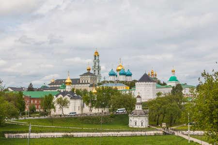Russia, Sergiev-Posad, 18, May, 2016: View of the Trinity-St. Sergius lavra Editorial