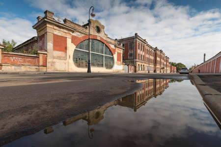 Kronstadt, Russia, 11, September, 2017: Autumn streets of Kronstadt Editorial