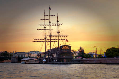 St. Petersburg, Russia - September 1, 2019 - View of the ship