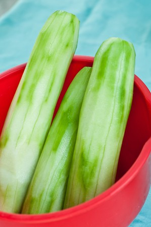 what if: cucumbers Stock Photo