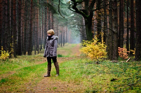 Woman in Forest photo