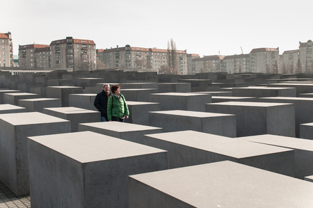 murdered: The Memorial to the Murdered Jews of Europe (German: Denkmal für die ermordeten Juden Europas), also known as the Holocaust Memorial (German: Holocaust-Mahnmal), is a memorial in Berlin to the Jewish victims of the Holocaust, designed by architect Peter