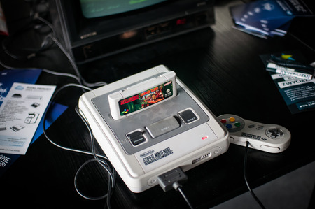 Poznan Games Fair Game Arena  PGA  on the picture The Super Nintendo Entertainment System  also known as the Super NES, SNES or Super Nintendo  is a 16-bit video game console developed by Nintendo that was released in 1990 in Japan, 1991 in North America,