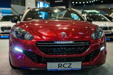 Poznan, Poland. 27th Mar, 2014. Poznan Motor Show is the largest fair event in Poland, the automotive industry, organized every year by the International Fair. On the picture Peugeot RCZ.