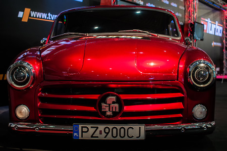 Poznan, Poland. 27th Mar, 2014. Poznan Motor Show is the largest fair event in Poland, the automotive industry, organized every year by the International Fair. On the picture FSM Syrena V8.