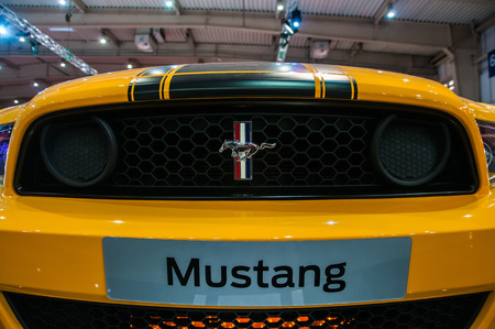 Poznan, Poland. 27th Mar, 2014. Poznan Motor Show is the largest fair event in Poland, the automotive industry, organized every year by the International Fair. On the picture Ford Mustang Boss 302. Editorial