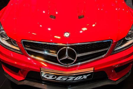 Poznan, Poland. 27th Mar, 2014. Poznan Motor Show is the largest fair event in Poland, the automotive industry, organized every year by the International Fair. On the picture mercedes gzox.