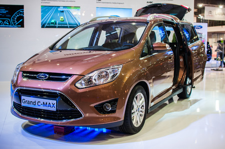 Poznan, Poland. 27th Mar, 2014. Poznan Motor Show is the largest fair event in Poland, the automotive industry, organized every year by the International Fair. On the picture Ford Grand CMax.