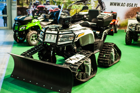 ps: Poznan, Poland. 27th Mar, 2014. Poznan Motor Show is the largest fair event in Poland, the automotive industry, organized every year by the International Fair. On the picture Arcticcat 1000i H2 PS 4x4. Editorial