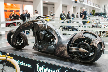 Poznan, Poland. 27th Mar, 2014. Poznan Motor Show is the largest fair event in Poland, the automotive industry, organized every year by the International Fair. On the picture harley davidson by Rafal Pik. Editorial