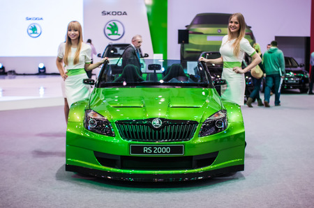 Poznan, Poland. 27th Mar, 2014. Poznan Motor Show is the largest fair event in Poland, the automotive industry, organized every year by the International Fair. On the picture Skoda RS 2000.