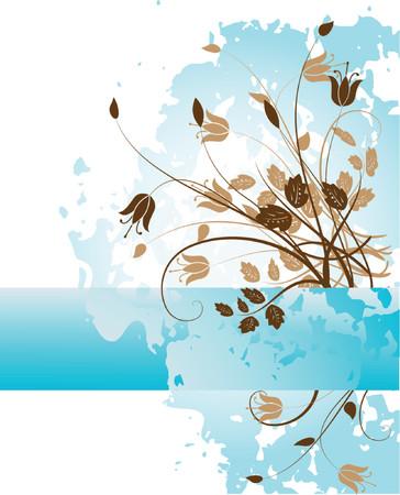 Grunge paint flower background element for design illustration