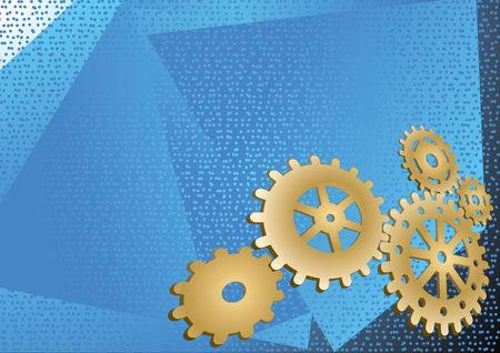 gearings: Vector wallpaper some gears on a blue abstract background