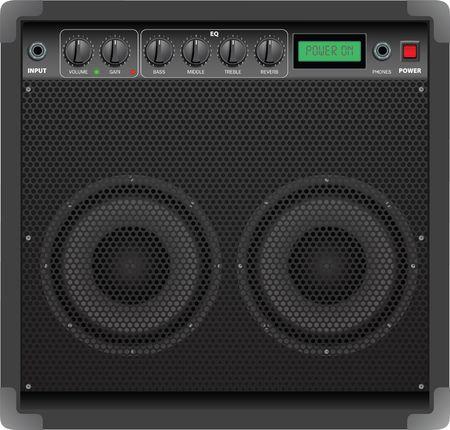 superdirecta: Vector realista que representa la ilustraci�n detallada de amplificador de guitarra
