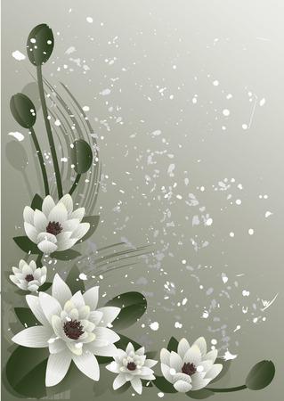 Ilustración vectorial - multa florecimiento de loto