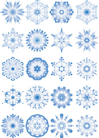 Vector illustration - set of snowflakes