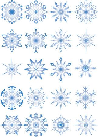 individualit�: Vector illustration - serie di fiocchi di neve Vettoriali