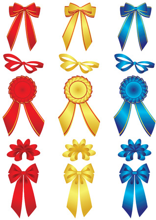 Vector illustration -  Set of bows and ribbons Illustration
