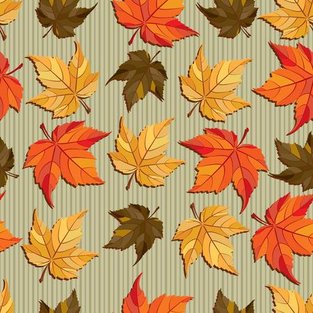 Vector seamless pattern - autumn leaves Vector