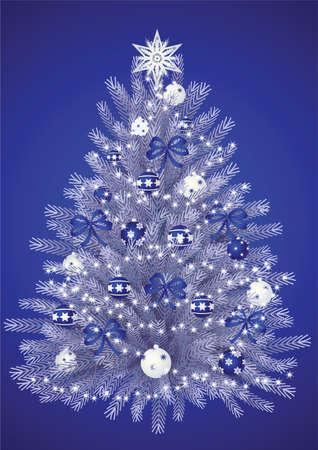 christmas background - christmas tree photo